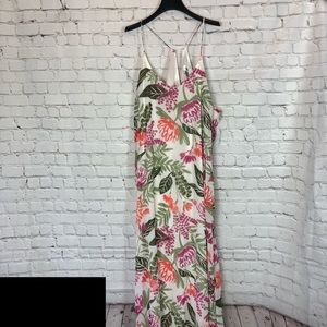 Old Navy NWT White Floral V-neck Long Maxi Dress